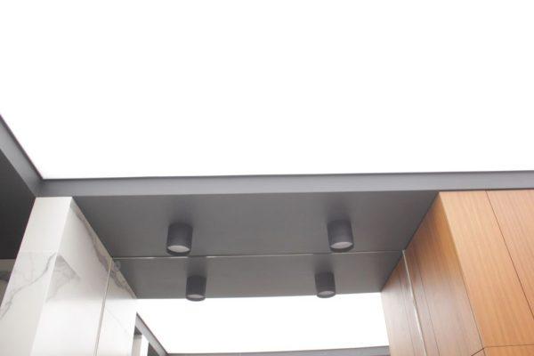 Натяжной световой потолок на ул. Баркля в санузле