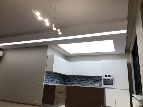 Световой потолок в квартире - узнать цены