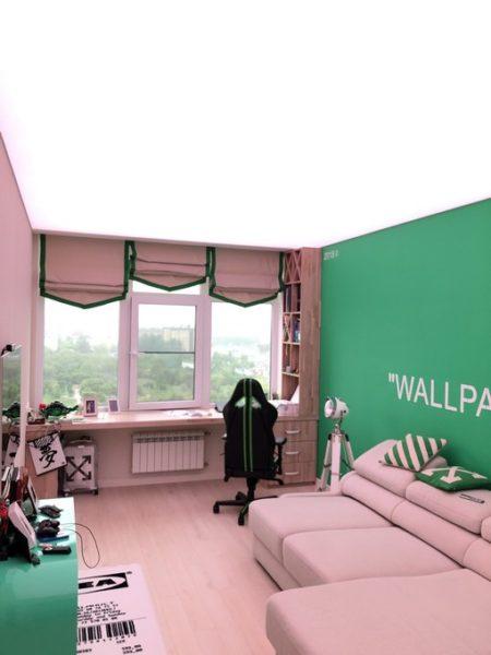 Монтаж светового потолка в ЖК Триколор в детской