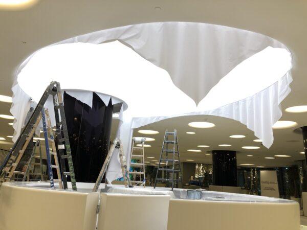 Натяжной световой потолок на Кутузовском в зале