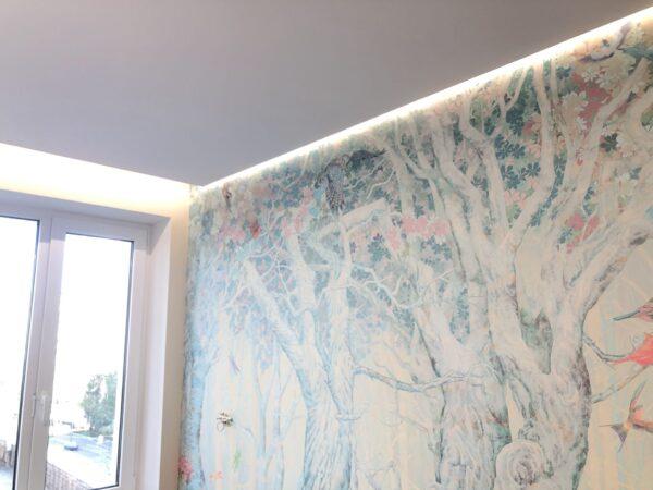 Монтаж светового потолка на Первомайской на спальне